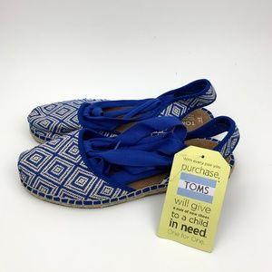 NWT Toms Blue Bella Espadrille Sandal 8
